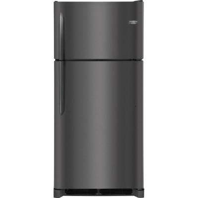 18.1 cu. ft. Top Freezer Refrigerator in Smudge Proof Black Stainless Steel