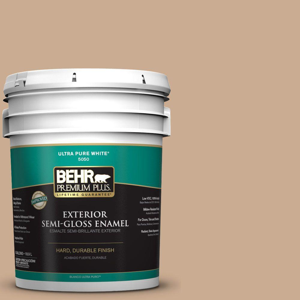 5-gal. #N250-3 Pottery Wheel Semi-Gloss Enamel Exterior Paint