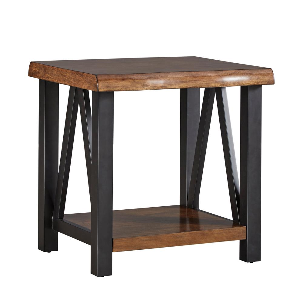 Great HomeSullivan Barnard Brown Live Edge End Table