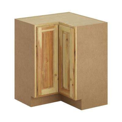 Hampton Bay Madison Assembled 28.5x34.5x28.5 inch Lazy Susan Cornder Base Cabinet in Hickory by Hampton Bay