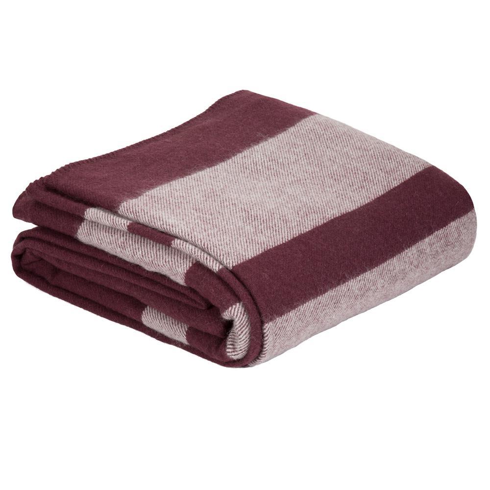 Burgundy Australian Wool Full/Queen Blanket