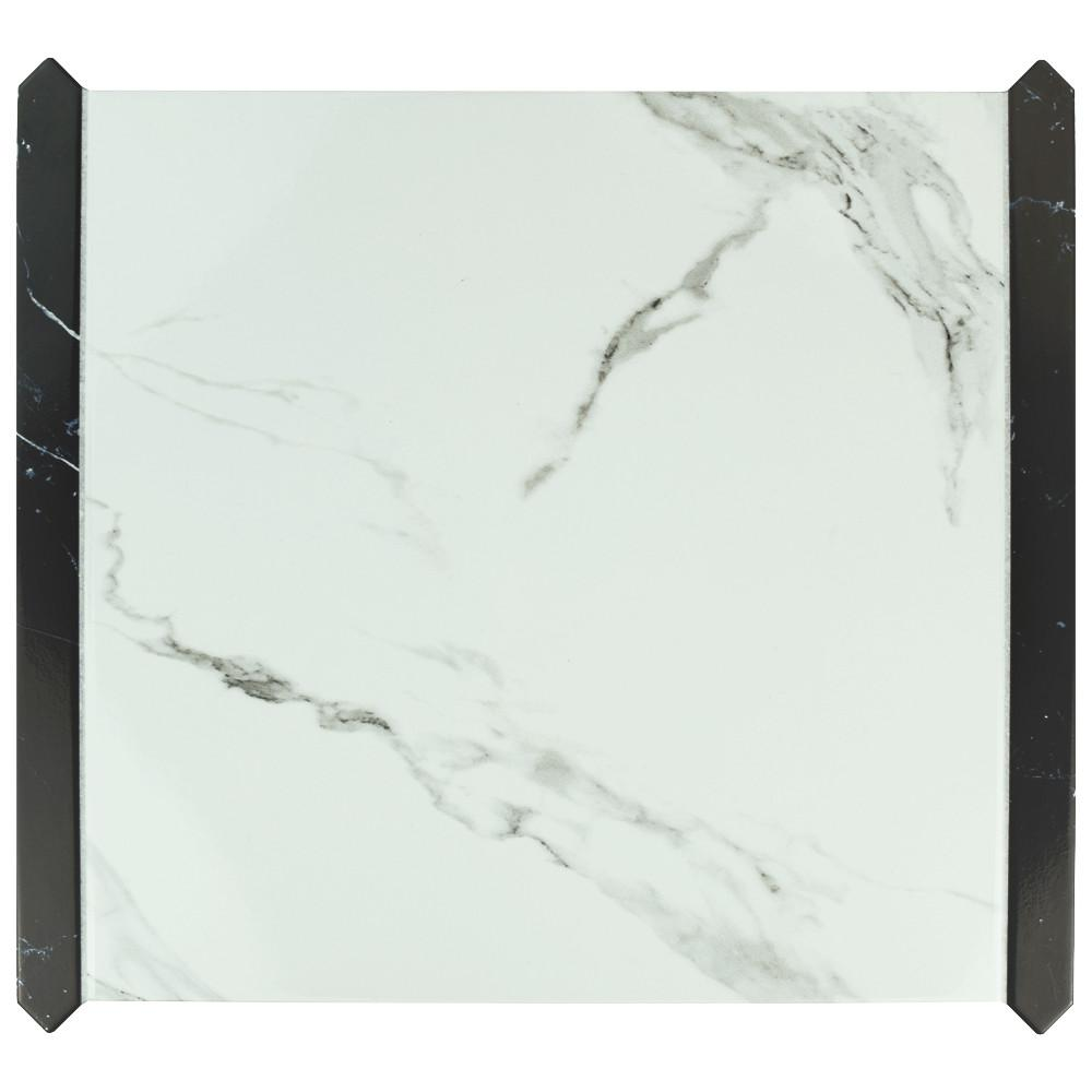 Merola Tile Exclusive Carrara 15-1/8 in. x 17-5/8 in. Ceramic Floor and Wall Tile (13.36 sq. ft. / case)