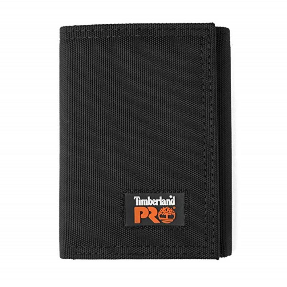 Cordura Black Nylon RFID Trifold Wallet with ID Window