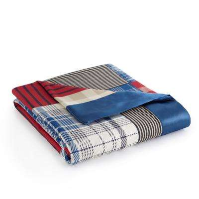King Berry Patch Plaid Year Round Polyester Sheet Blanket