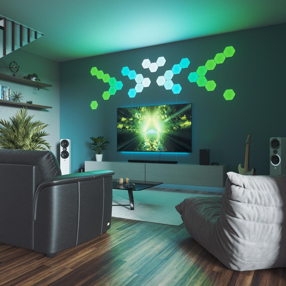 Unbranded Nanoleaf Shapes-Hexagons Smarter Kit-NL42-7003HX-7PK - The Home  Depot