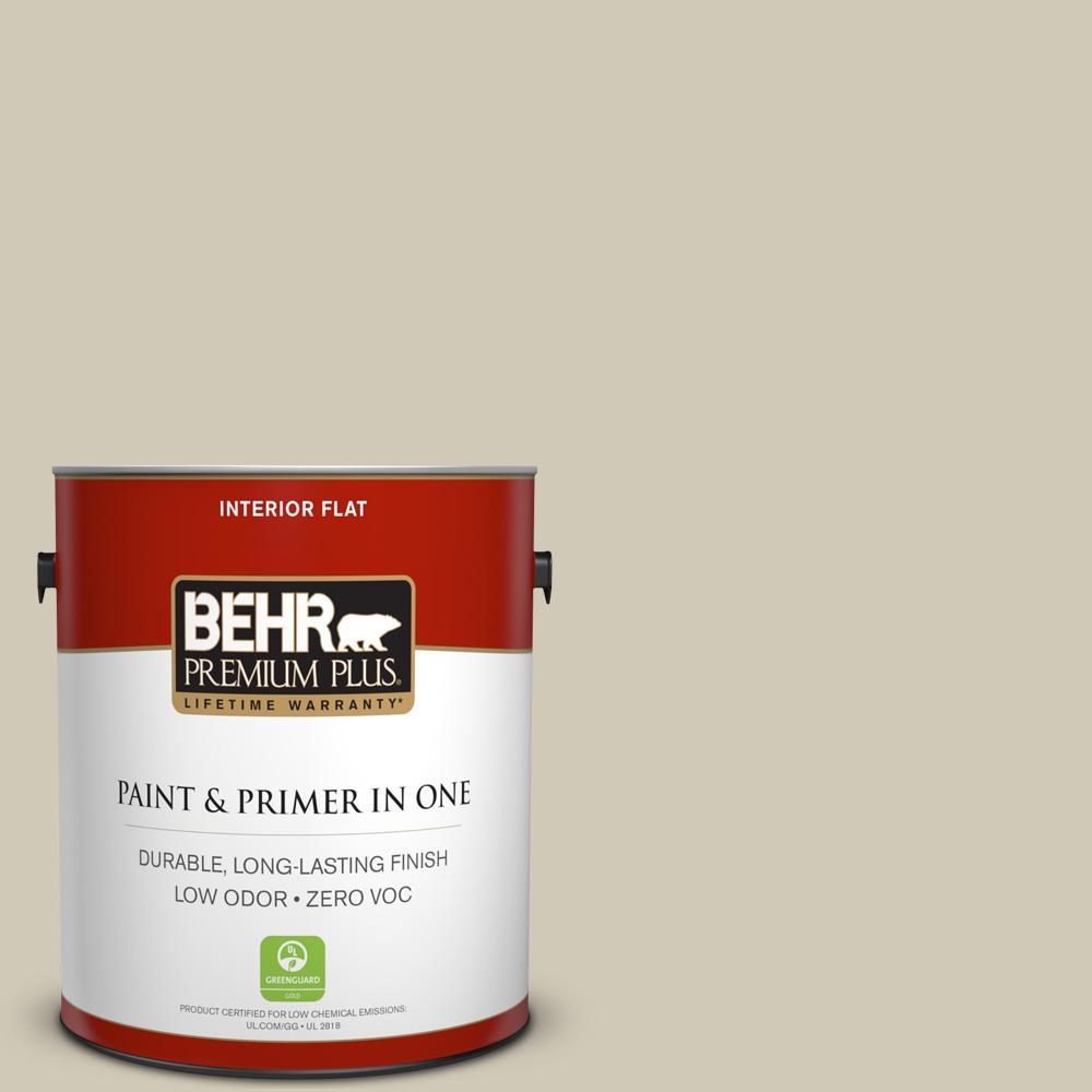 BEHR Premium Plus 1-gal. #N330-3 Unmarked Trail Flat Interior Paint