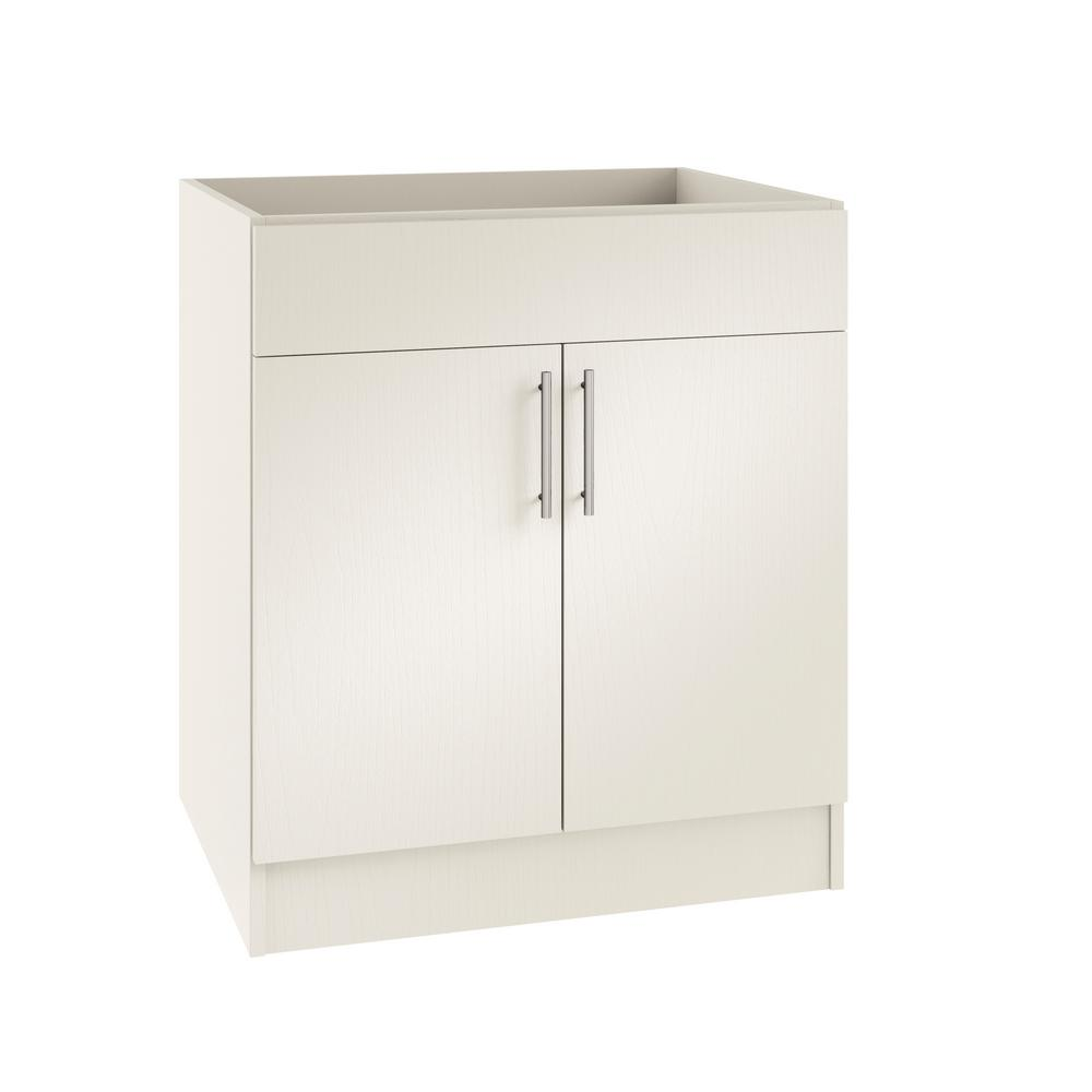 Assembled 24x34.5x24 in. Miami Open Back Sink Outdoor Kitchen Base Cabinet