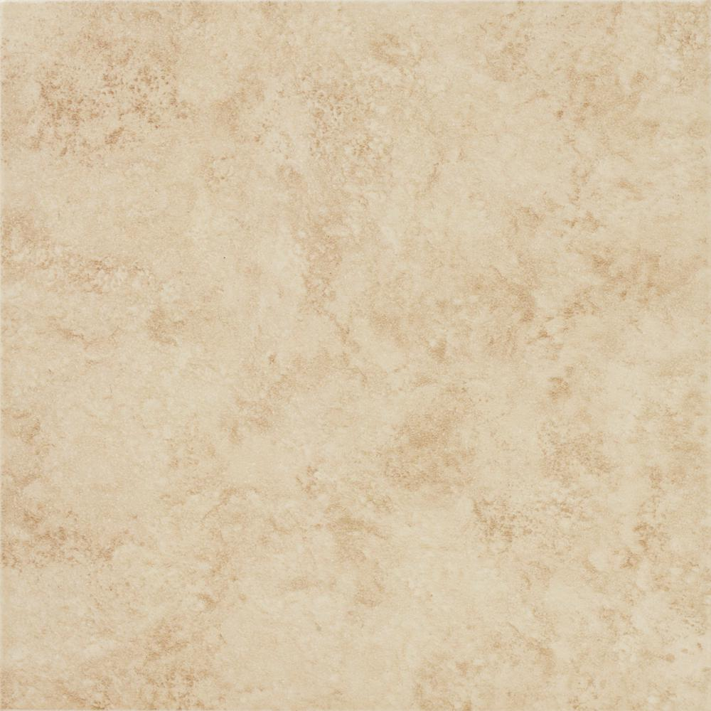 TrafficMASTER Baja 12 in  x 12 in  Beige Ceramic Floor and Wall Tile (15  sq  ft  / case)