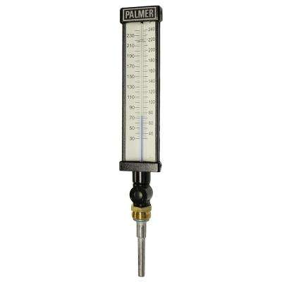 9 in. Scale Aluminum Industrial Thermometer (30 to 240 Degree F)