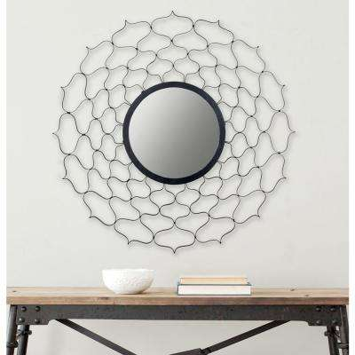 Curves Ahead 36 in. x 36 in. Iron Framed Mirror