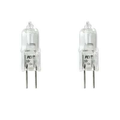 10-Watt Bright White (2800K) T3 G4 Bi-Pin 12V Dimmable Landscape Garden Halogen Light Bulb (2-Pack)
