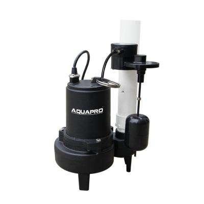 1/2 HP Sewage Pump with Piggyback Vertical Float Switch