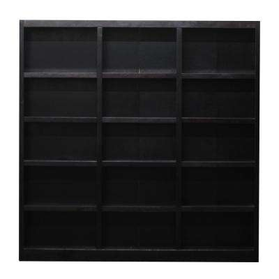 72 in. x 72 in. Espresso Wall Storage Unit