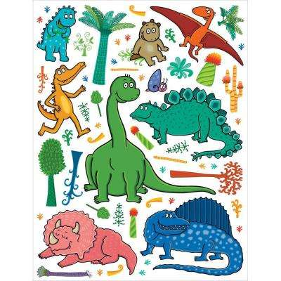25.5 in. x 33.5 in. Dinosaurs Wall Decal