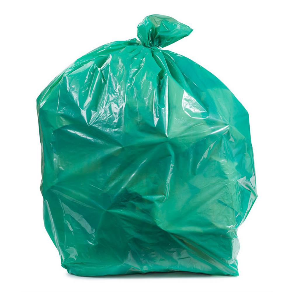 Plasticplace 55 60 Gal Green Trash Bags Case Of 100