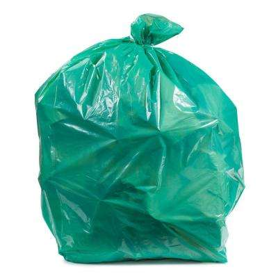 50 in. W x 60 in. H 64 Gal. 1.5 mil Green Toter Compatible Trash Bags (50-Case)