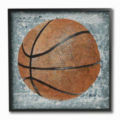 "12 in. x 12 in. Grunge Sports Equipment Basketball"" by Studio W Printed Framed Wall Art"