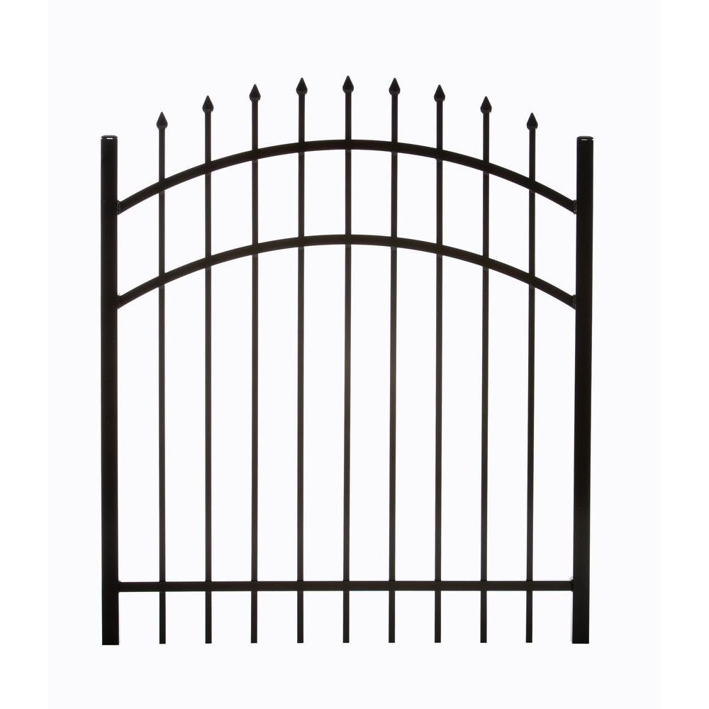 DIY Universal Fence Clinton 3.88 ft. W x 4.5 ft. H Single Aluminum Walk Arched Fence Gate