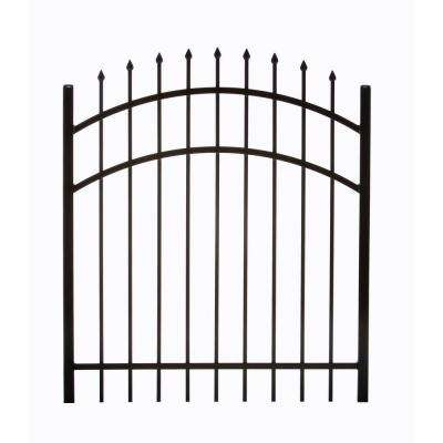 Clinton 3.88 ft. W x 4.5 ft. H Single Aluminum Walk Arched Fence Gate