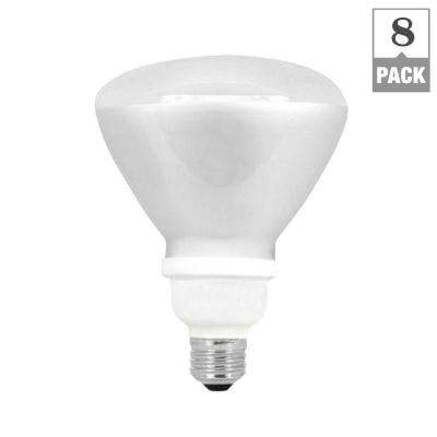 75W Equivalent Soft White (2700K) R40 CFL Flood Light Bulb (8-Pack)
