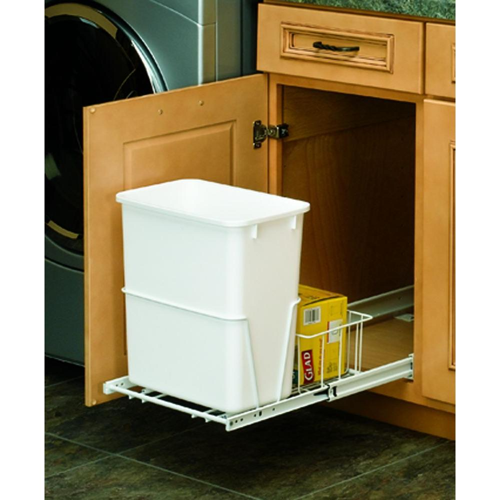 Rev-A-Shelf 20-quart Vanity Waste Container with Basket-DISCONTINUED