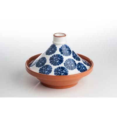 Blue and White Flower Tagine