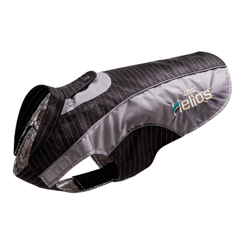Large Black Reflecta-Bolt Sporty Performance Waterproof Pet Dog Coat Jacket With Blackshark Technology