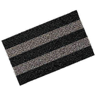 Patio Stripe Root Beer 18 in. x 30 in. Door Mat