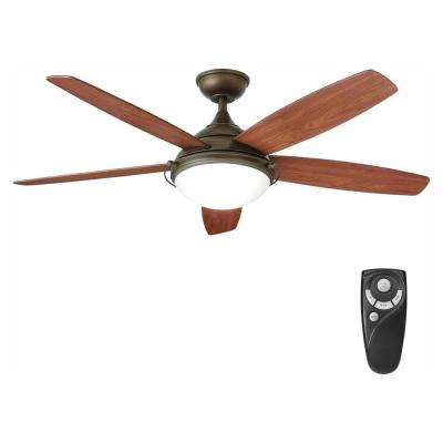 Gramercy 52 in. LED Indoor Espresso Bronze Ceiling Fan with Light Kit and Remote Control