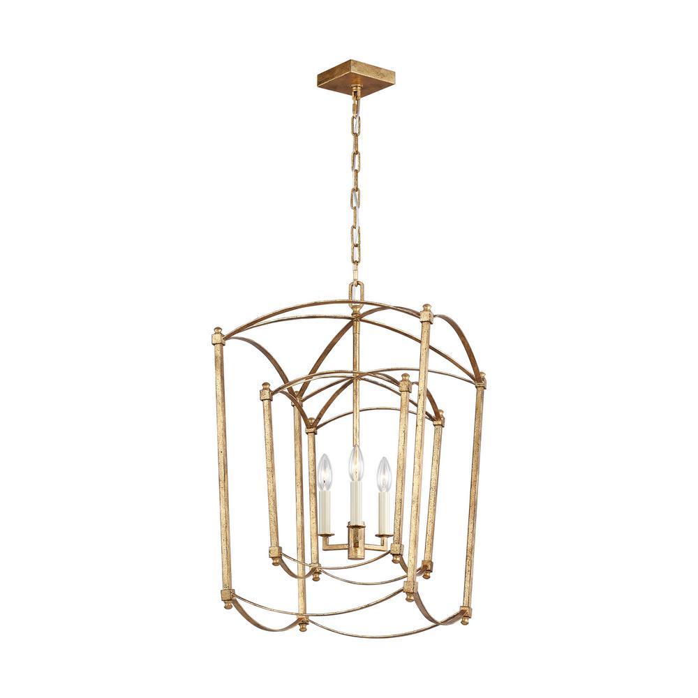 Thayer 3-Light Antique Gild Chandelier