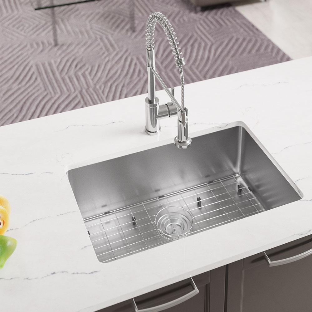 MR Direct Undermount Stainless Steel 28.13 in. Single Bowl Kitchen Sink