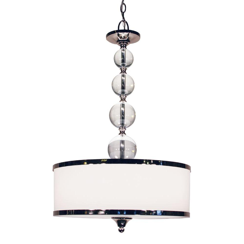 Lawrence Collection 3-Light Chrome Pendant