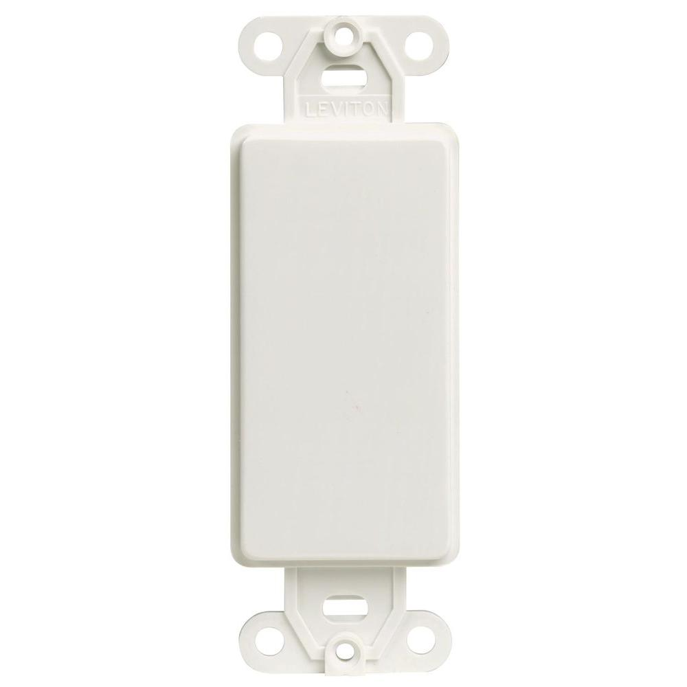 Leviton Decora Blank Insert White R52 80414 00w The Home Depot 15 Amp 4way Switch Whiter58056042ws