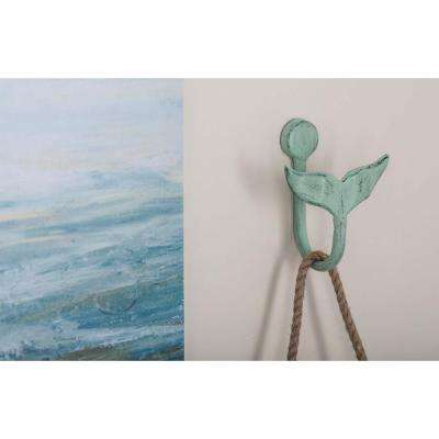 4 in. x 5 in. Coastal-Living Iron Fluke Wall Hooks in Distressed Finish (4-Pack)