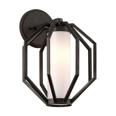 Boundary Textured Graphite Outdoor Integrated LED Wall Mount Sconce
