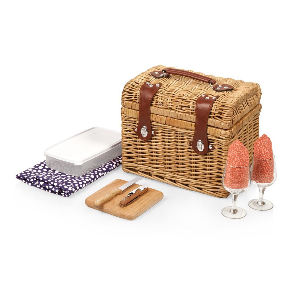 Adeline Napa Natural Wood Wine & Cheese Basket