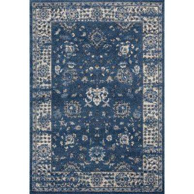Serenity Azlyn Midnight Blue 2 ft. 7 in. x 4 ft. 2 in. Accent Rug
