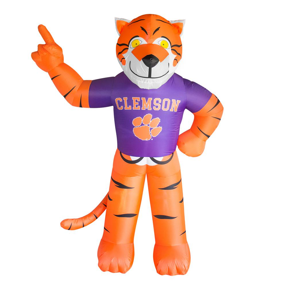 7 Ft Clemson Tigers Inflatable Mascot 496843 The Home Depot