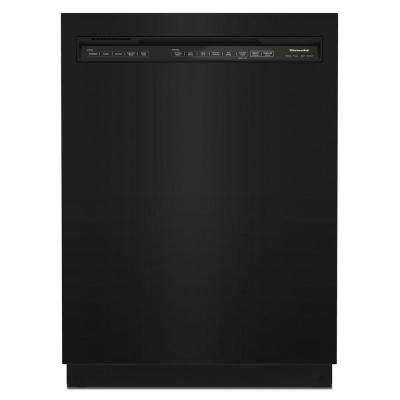 24 in. Front Control Tall Tub Dishwasher in Black with Stainless Steel and Third Level Utensil Rack