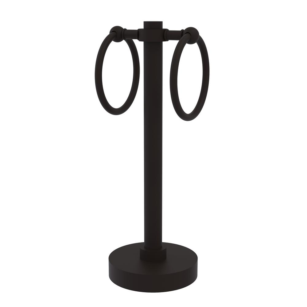 Allied Brass Vanity Top 2-Towel Ring Guest Towel Holder in Oil Rubbed Bronze