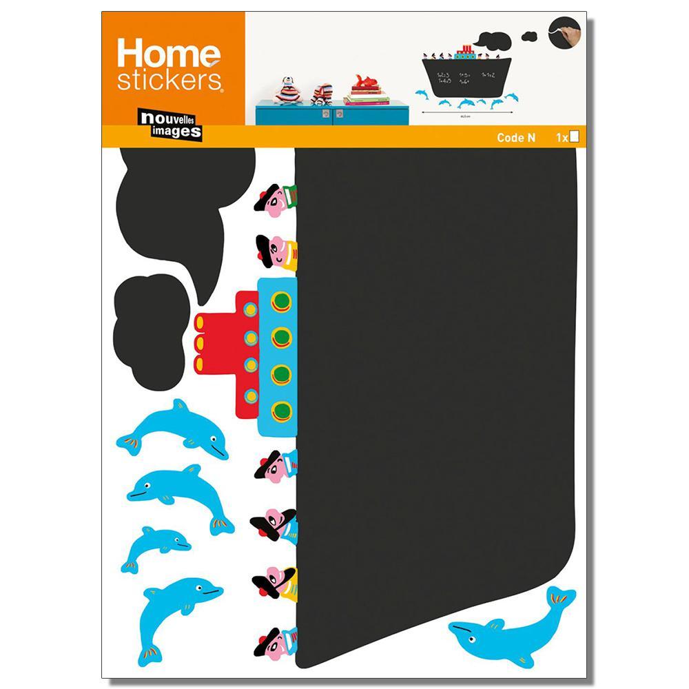 Multicolor Cruise Liner/Chalk Board Home Sticker