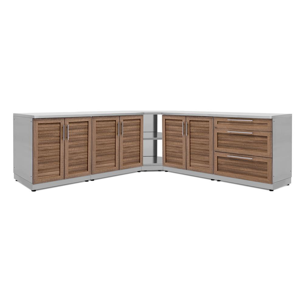 Natural Kitchen Cabinets: NewAge Products Natural Cherry 7-Piece 128 In. W X 36.5 In