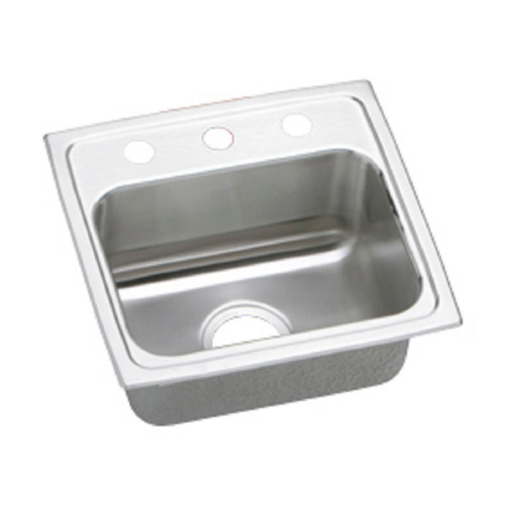 kitchen sinks at home depot elkay lustertone drop in stainless steel 17 in 3 8586