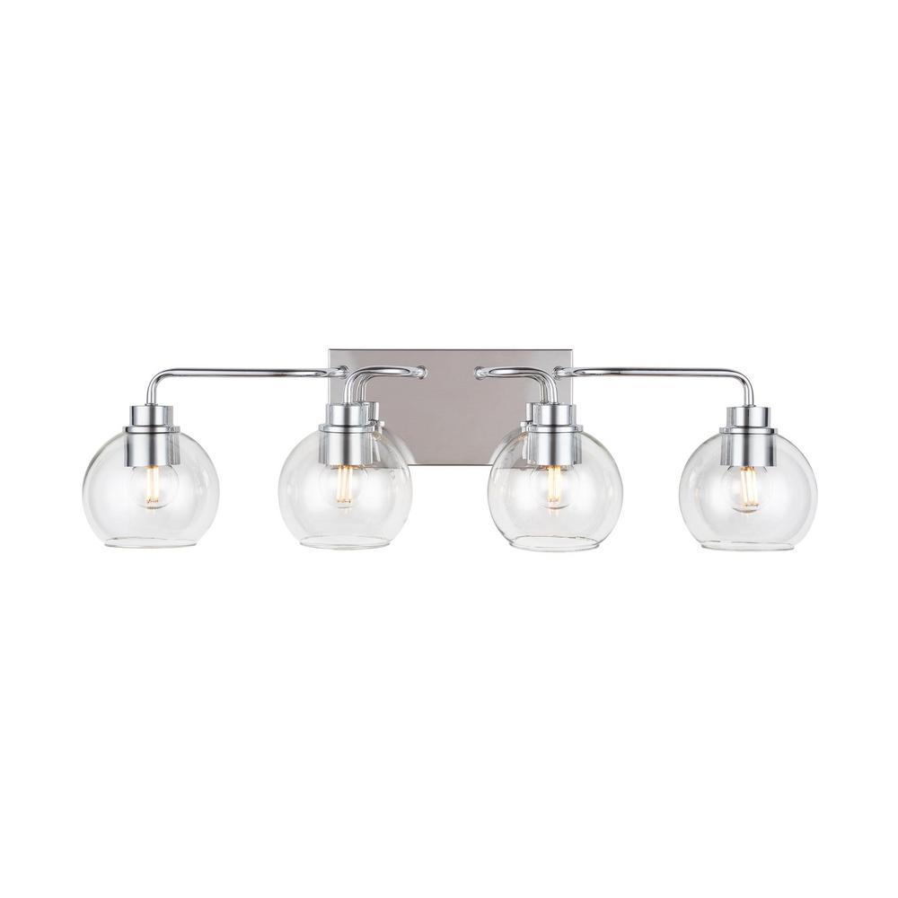 Home Decorators Collection 4 Light Polished Chrome Vanity Light