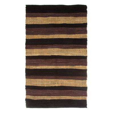 Chindi Stripe Brown 2 ft. 3 in. x 3 ft. 9 in. Area Rug