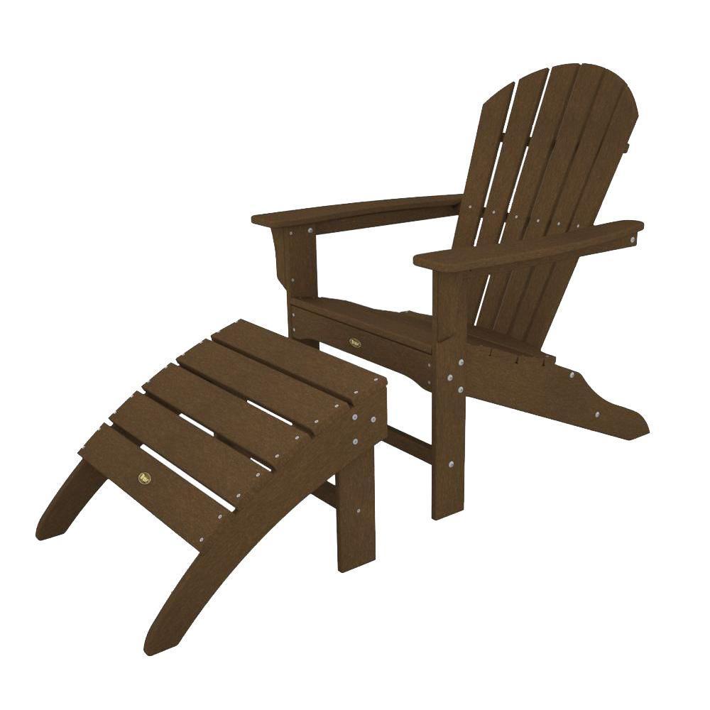Trex Outdoor Furniture Cape Cod Tree House 2-Piece Patio Adirondack Chair