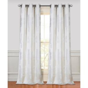Click here to buy  84 inch Floral Park Grommet Curtain Panel Pair in Ivory.