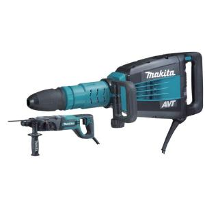 Makita 14 Amp 27 lbs. AVT SDS-MAX Demolition Hammer with Free 1 inch SDS-Plus Rotary Hammer by Makita