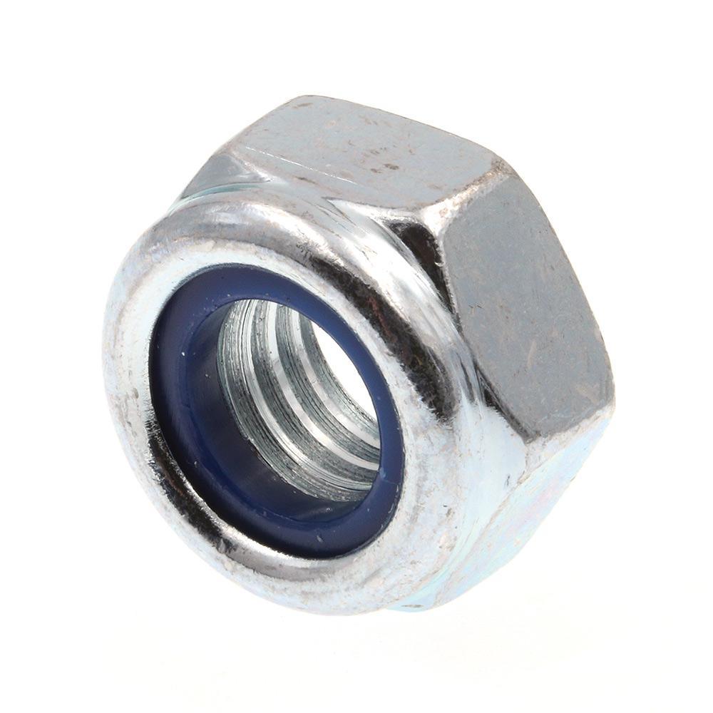 M10-1.50 Class 8 Metric Zinc Plated Steel Nylon Insert Lock Nuts (25-Pack)