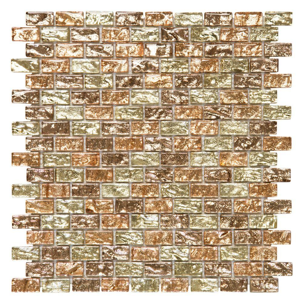 Infusion 11-7/8 in. x 12 in. x 8 mm Glass Brick